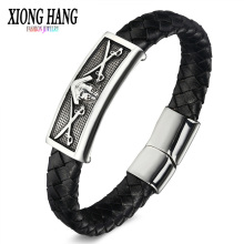 Buy XiongHang Men Leather Bracelet 2018 New Minimalist Style Ladies Men Charm Style Bracelet Men's Retro jewellery Pirate Bracelet for $9.78 in AliExpress store