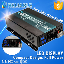 6000W Peak LED Display Off Grid Converter 3000W 12V/24V/48VDC to 110V/220V/240VAC 3000W Pure Sine Wave Solar Power Inverter(China)