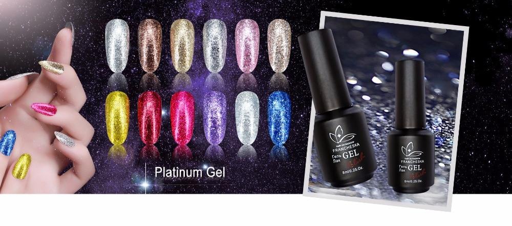 glitter platinum gel