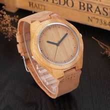 2017 Promotion New Arrival Japanese Miyota Wristwatches Genuine Leather Bamboo Wooden Watches For Men Women Christmas Gifts