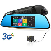"2017 3G 7"" Android Car DVR Rearview Mirror GPS Navigation Bluetooth Car Camera Parking Dual Lens Full HD 1080P Auto Registrator"