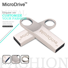 Micro Drive Silver Metal usb flash drive 32GB/16GB/8GB/4GB pendrive genuine original memory disk external storage