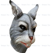 Halloween Rabbit Head  Costume Adult Size Party Latex Bunny Mask