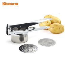 Large Sturdy Stainless Steel Potato Masher Ricer Fruit Juicer Cooking Tools Kitchen Accessories(China)