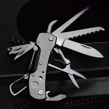 Multitool Camping Pocket Knife Outdoor Camping Survival EDC Tool Folding Knife Titanium Black Multifunctional Knife