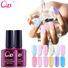 QZC 10ml Best Selling UV Gel Nail Polish health Summer Transparent red Color Nail Gel Polish Nail Primer Gel Varnishes Gelpolish