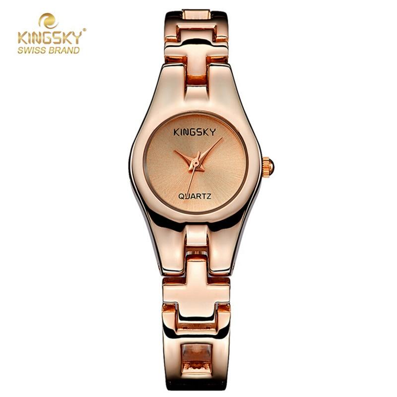 Luxury Brand Rose Gold Watches For Ladies Female Clock Alloy Quartz Bracelet Watch Fashion Ladies Dress Watches Hodinky<br><br>Aliexpress