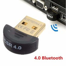 High Speed Mini USB Bluetooth Adapter V 4.0 Dual Mode Wireless Dongle Wholesale CSR 4.0 USB For Win7 Vista XP 32/64 Win8