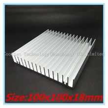 100% new 100x100x18mm radiator Aluminum heatsink Extruded  heat sink for 20-50W LED, Electronic heat dissipation