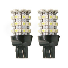 2PCS/Lot T20/7443 3528 60SMD LED Light Dual Color White/Amber Switchback Car Light Source Auto Turn Signal Reverse Lights Lamps