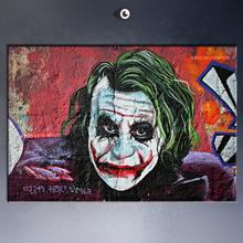 Joker gnasher 100 UK Graffiti Artists canvas print POP ART Giclee poster print on canvas   for wall decoration painting