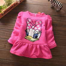 Girl's t shirt Children's Tees T shirts Spring Autumn Tees Woolen Cotton Fashion lovely Cartton printing Tees for Babies