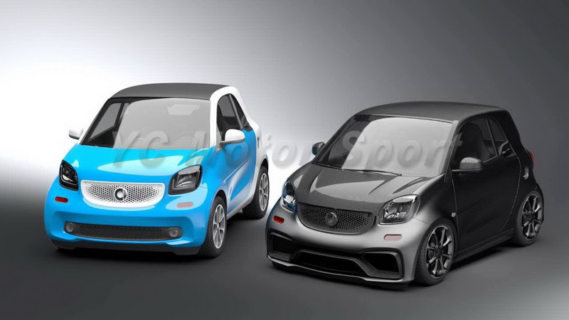 2015-2017 Smart Fortwo C453 & Forfour W453 AMG Style Body Kit FRP (3)