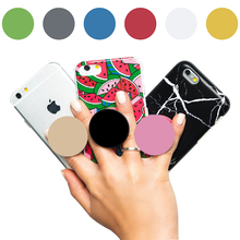 Multiple colors Phone Holder Pop Up Expanding Mobile Phone Holder Stand Grip For iPhone Samsung Round Socket Finger Ring Mount(China)