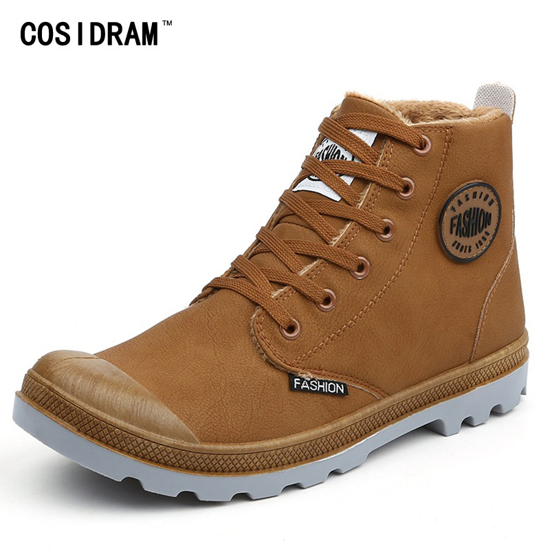 COSIDRAM Plus Size 45 High Top Winter Shoes Men Bo...