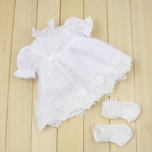 "[DY042-D] 16"" Princess girl doll dress # White Dress and Socks Set for 16"" Fashion girl doll outfits making for wholesale"
