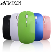 Aitmexcn Ultrathin Wireless Mouse 2.4ghz Optical Computer Gaming Mouse Laser with USB Receiver Mause for laptop Macbook Mac Mice