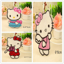 10PCS/LOT About 6CM Hello Kitty Applique cartoon patches sew on fabric applique for kids clothes