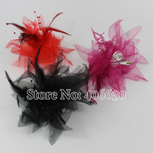 Hair Accessories For Women Brooch Apparel Decorations Girls Fascinators Feather Corsage 24pcs/lot MFC-002