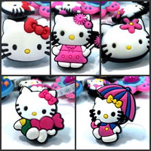 Mixed Styles 10pcs High Quality Hello Kitty Hot Cartoon Shoe Charms Accessories Party Home Decoretion Kids Children Gift Fashion(China)
