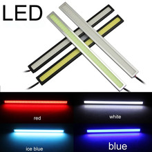 1 Pair 17CM 12V DRL Super White Blue Red Green Yellow Car COB LED Light Bulb Fog Driving Lamp Waterproof
