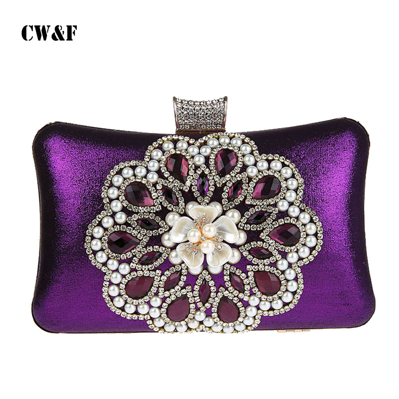 New exquisite diamond banquet package packet pearl evening bag clutch bag dress<br>