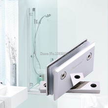 1PCS BEVEL TWO-WAY 90 DEGREE STAINLESS STEEL GLASS DOOR HINGES BATHROOM SHOWER DOOR CHROME FINISHED
