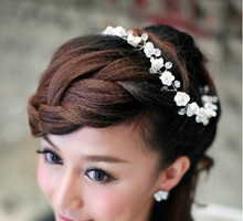 2016 Bridal flower headbands headwear vintage wedding brides crown and tiara fashion headpieces 1pcs high quality