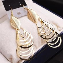 2 color 2017 new fashion lady Drop Earrings India folk style retro long Tassel Earrings and jewelry wholesale manufacturers