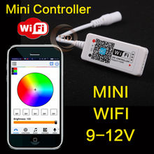 new 2016 DC12V wifi LED RGB Controller,music,time, Wireless IOS/Android wifi Controller for RGB SMD 5050 3528 led strip(China)