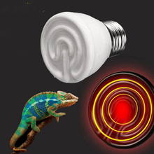 Pet Infrared Ceramic Emitter Heat Lamp Bulb E27 Light Bulbs Lighting 45mm 25/40/50/60/75/100W for Reptile Pet Brooder 110/220V