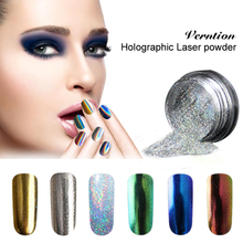 Verntion 2017 New Mirror Nail Powder  DIY Shinning Chrome Art Tip Decoration Pigment Glitters 6 Colors Metal Nail