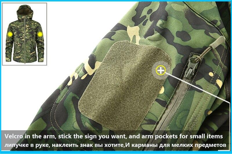 Mege Shark Skin Soft Shell Military Tactical Jacket Men Waterproof Army Fleece Clothing Multicam Camouflage Windbreakers 4XL 12
