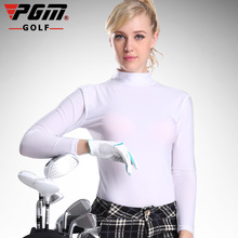 PGM Golf  Sunscreen UV Womens Ice Tshirts Summer Outdoor Sport Clothing Viscose Shirt Underwear Long Sleeve Clothes Golf Apparel