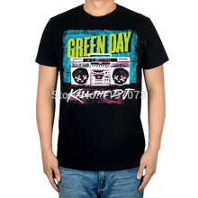 Free shipping  Green Day Kill the DJ  album cover men's punk rock  Alternative black T-Shirt