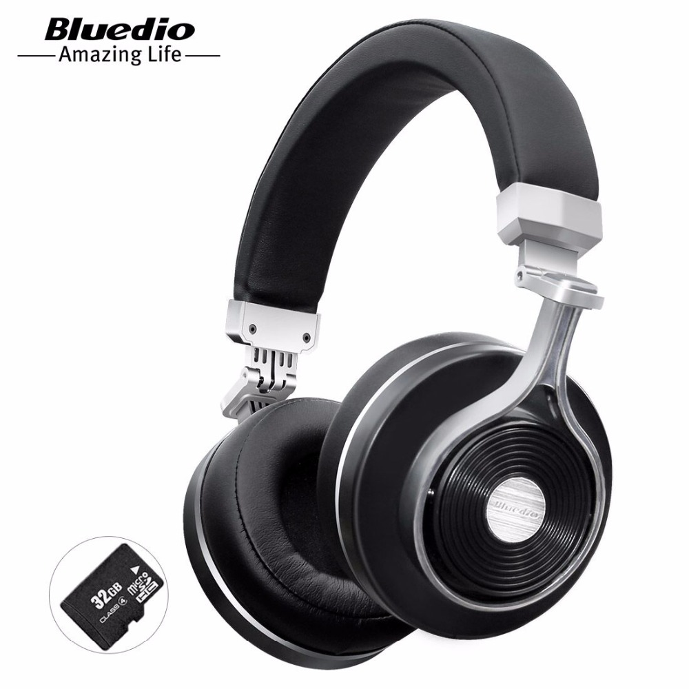 Bluedio T3 Plus Wireless Bluetooth Headphones/headset with Microphone/Micro SD Card Slot bluetooth headphone/headset(China)