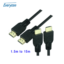 Everycom High quality 1.5M 5M 10M 15M Gold Plated Connection (Standard HDMI= 1.5M)  Cable V1.4 HD1080P for DVD HDTV TV Projector