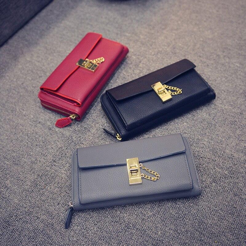 Aolen Wallet Women Zipper Wallets Large Long Womens And Purses Luxury Brand 2016 Messenger Bags Ladies Leather Designer Famous<br><br>Aliexpress