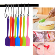 Heat Resistant Flexible Silicone Spatulas Cake Spatula Scraping Baking Molds Scraper Cooking Bakeware Drop shipping 21*4*0.5cm