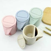 The wheat straw milk tea cup creative couple tea cup green wash gargle cup of wheat(China)