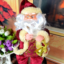 HOT SALE Christmas Decoration Santa Claus Doll Window Ornaments Red Christmas Tree Hanging Pendant Creative Christmas Gift MFD66(China)