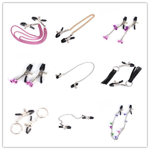 Nipple Clamps With Metal Chain Sex Flirt Nipple Clamps Slave Exotic Accessories Bdsm Milk Clip Breast Clip For Women Couples