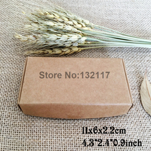 50PCS 11*6*2.2cm Natural Kraft Paper Box Cartons Box Gift Packing Boxes Embalagem Wedding Favors Box Soap Packaging