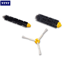 NTNT 1Bristle brush+1 Flexible Beater Brush +1Side Brush for iRobot Roomba 600 700 Series Vacuum Cleaning Robots 760 770 780 790