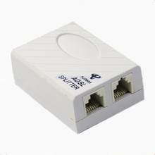 5Pcs/lot Telephone RJ11 Line ADSL Modem Micro Filter Splitter #4XFC# Drop Shipping(China)