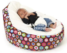 COVER ONLY, NO FILLINGS - deep sleep Comfortable Baby Bean Bag Kids Portable Beanbga Chair No beans with 2 Straps