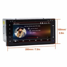 2 Din Android For Toyota 200*100 Car DVD Radio Stereo Video Player GPS For Toyota Hilux VIOS Camry Corolla Prado RAV4 Prado