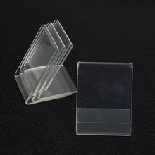 Kalliope 10pcs 5*7CM Clear Acrylic Namecard Price Tag Advertisement Display Stand Holder,Showcase Fashion Jewelry Display