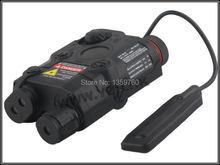 NEW EMERSON Tactical Flashlight Red Laser and Led Torch Black PEQ/15 BD7521 free shipping