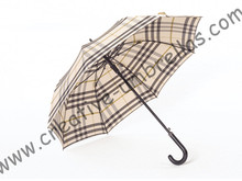 Auto open fashional British check design umbrellas,190T pongee printed fabric,long-handle umbrella,straight umbrella,rain gear